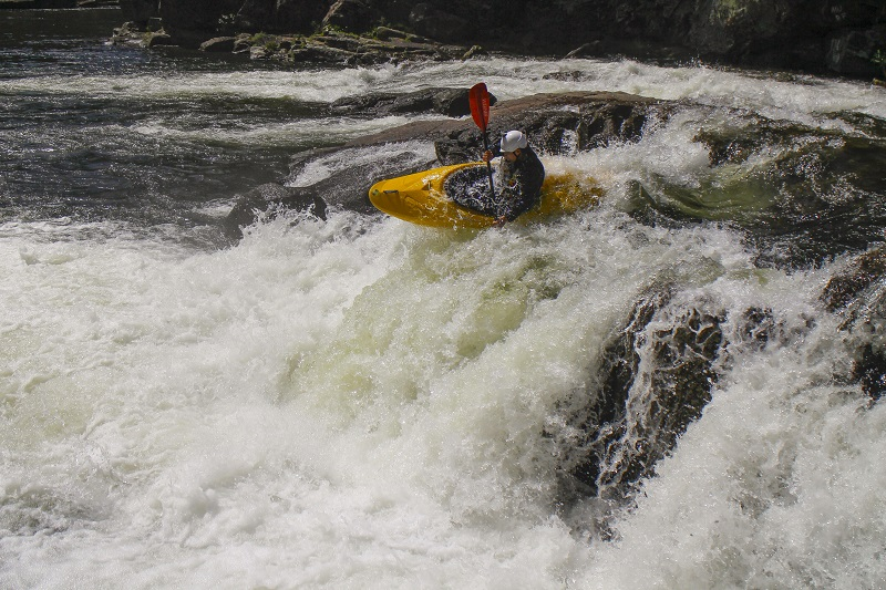 Waterfall kayaking
