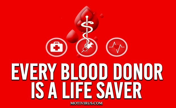 Motivational blood donation quotes and slogans