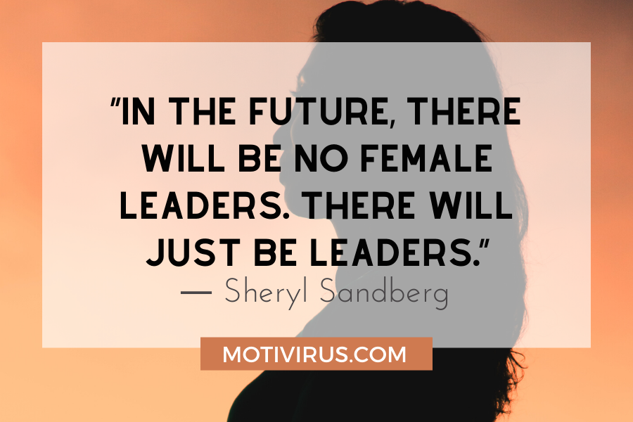 motivational leadership quotes with women's silhouette