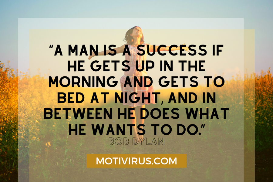 secrets of success quote graphics with woman smiling and jumping in background