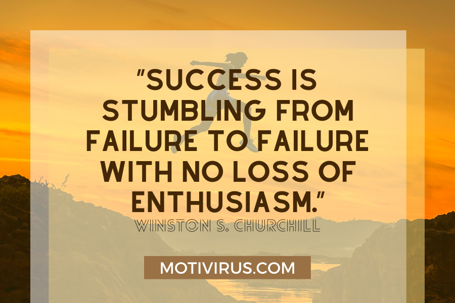secrets of success quote graphics with silhouette in background