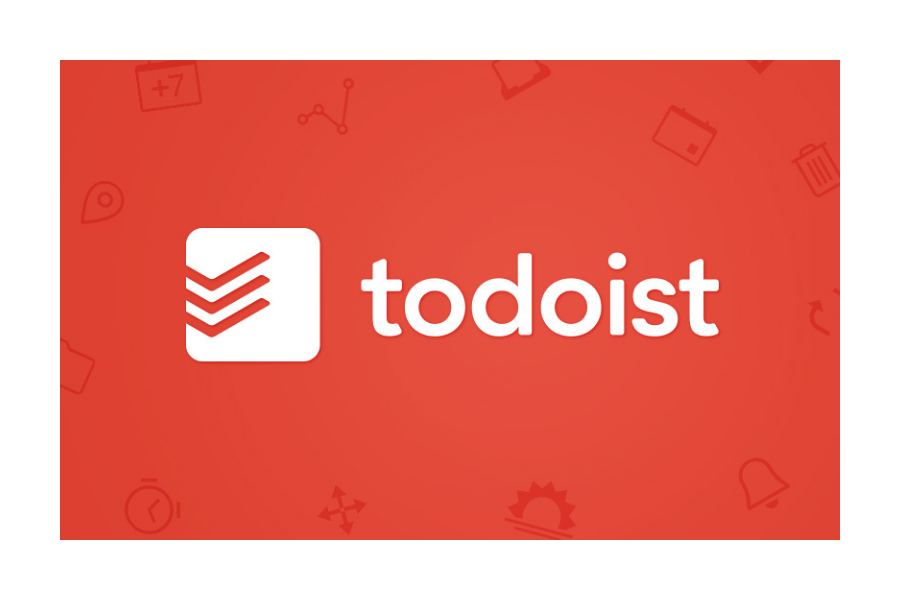 Todoist Logo red background