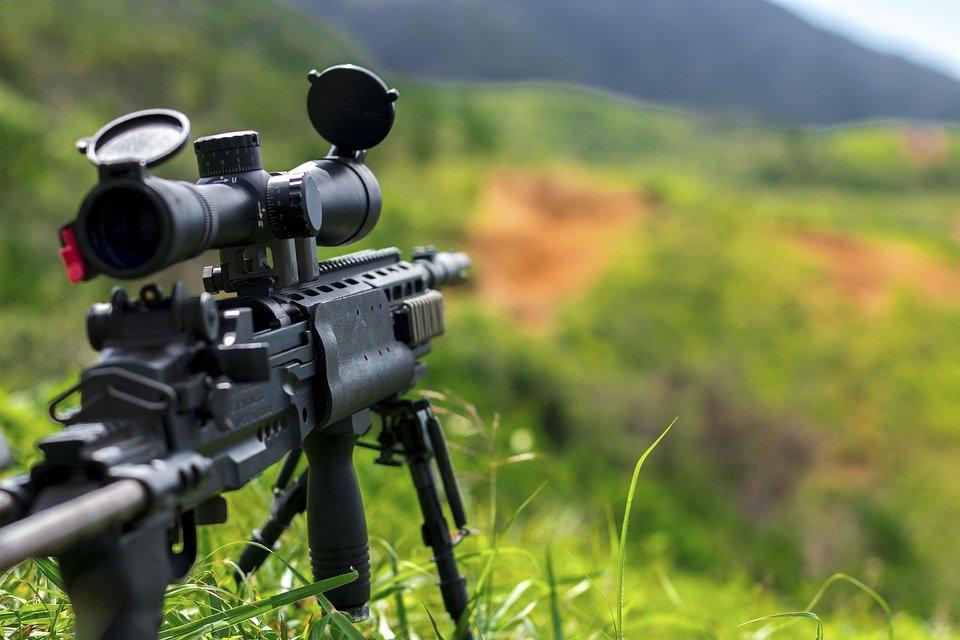 Rifle, Sniper, Green, Grass, Bullet, War, Army